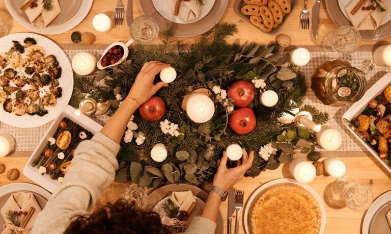 potrawy wigilijne na stole