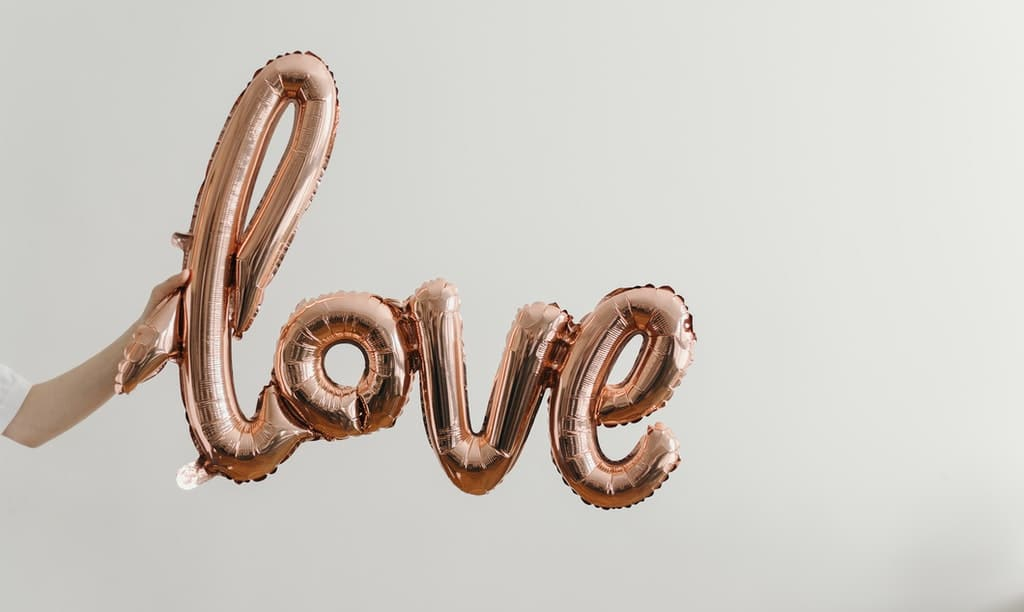 walentynki love balon
